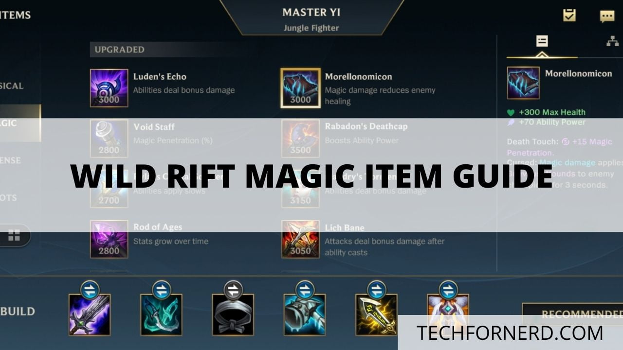 WILD RIFT MAGIC ITEM GUIDE