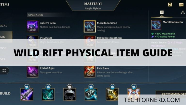 Wild Rift Physical Item guide