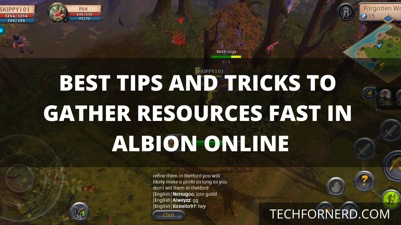 gather resources fast in albion online