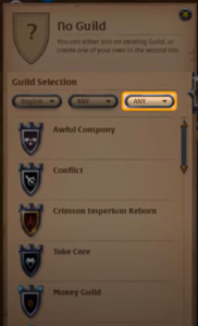 find a good guild in Albion Online