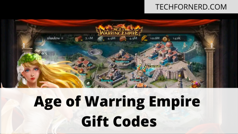 Age of Warring Empire Gift Codes