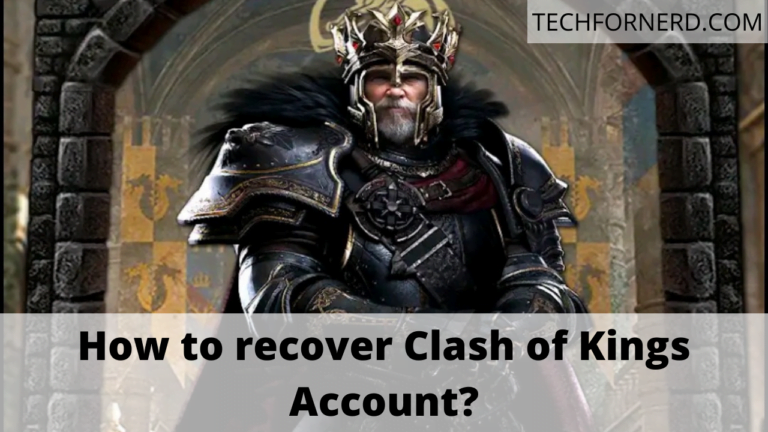 recover Clash of Kings Account