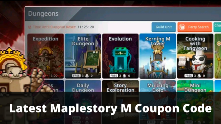 Maplestory M Coupon Code